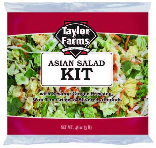 Asian Salad Kit [4 ct/cs, 48 oz, Monterey County, 12.0 lb(s)]