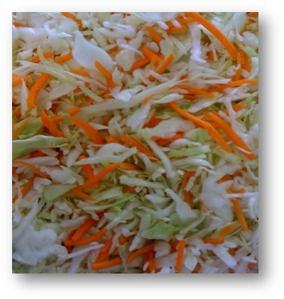 Cabbage/Coleslaw Mix (shred w/sep color, 4 ct/cs, 5 lb bags, Monterey County, 20 lbs)
