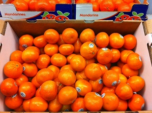 Mandarins, Murcotts [100 ct/cs, 1/2 cup, 25 lbs, Tulare County]