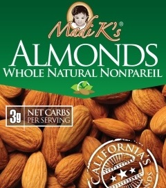 Almonds, Whole Natural (1oz Snack Packs, 500 Ct/Cs) Stanislaus